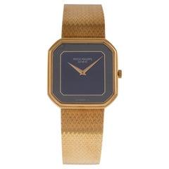 Patek Philippe Wrist Watch Square Shape Special Bracelet 18 Carat Yellow Gold
