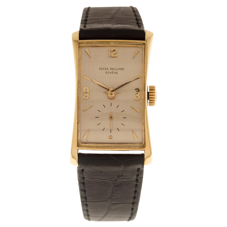 Patek Philippe Wrist Watch Hour Glass Ref. 1593 in 18 Carat Yellow Gold