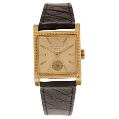 "Patek Philippe Watch Ref. 2496 ""Guilloché"" Dial 18 Carat Yellow Gold"