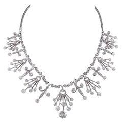Victorian Old Mine Diamond Necklace