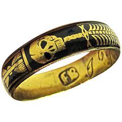 Antique Gold Skeleton Ring