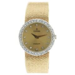 Concord 18 Karat Yellow Gold Vintage Ladies Diamond Watch