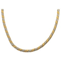 14 Karat Two Tone Rope Style Necklace