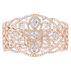 10.40 Carat Diamond Bangle in 18KT Rose Gold