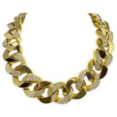 24 Carat Diamond Necklace and Bracelet in 18KT Yellow Gold