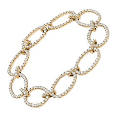 Diamond Circle Linked Bracelet in 18KT Yellow Gold