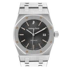 Audemars Piguet Royal Oak Gray Dial Steel Mens Watch 15000ST Box Papers