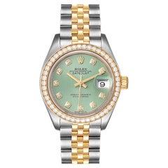Rolex Datejust 28 Steel Yellow Gold Diamond Ladies Watch 279383 Box Card