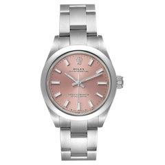 Rolex Oyster Perpetual Pink Dial Steel Ladies Watch 276200 Unworn