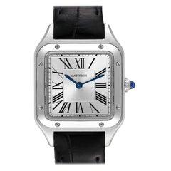 Cartier Santos Dumont Small Steel Ladies Watch WSSA0023 Box Card