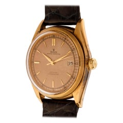 Rolex Watch Oyster Perpetual Date Just Bubbleback Ref. 4467 in 18kt Yellow Gold