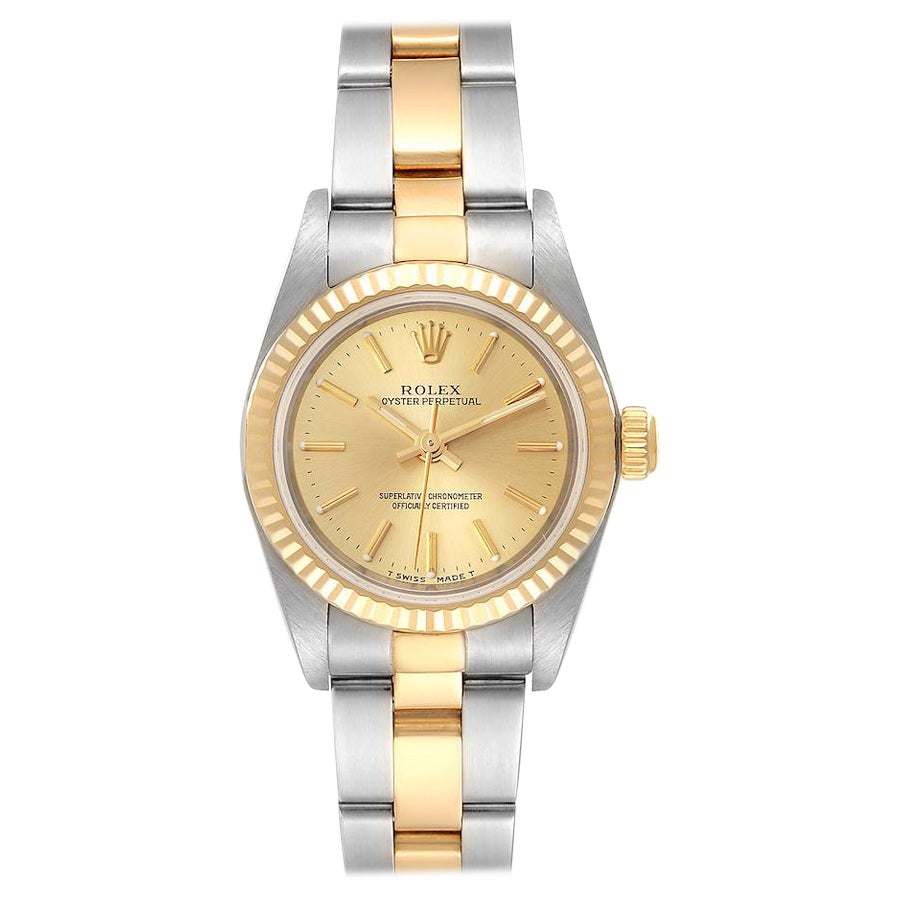 Rolex Oyster Perpetual Steel Yellow Gold Ladies Watch 76193
