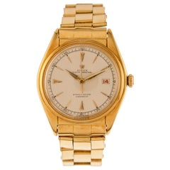 Rolex Watch Oyster Perpetual Date Just Bubbleback Ref. 5030 in 18kt Yellow Gold