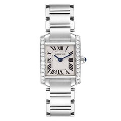 Cartier Tank Francaise Steel Diamond Ladies Watch W4TA0008