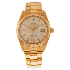 Rolex Watch Oyster Perpetual Date Ref. 1501 18 Carat Rose Gold with Bracelet