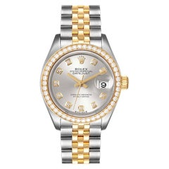 Rolex Datejust 28 Steel Rolesor Yellow Gold Diamond Watch 279383 Box Card