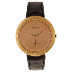 "Rolex Wrist Watch ""Flying Saucer"" Ref. 9522 18 Carat Yellow Gold Rose Dial"