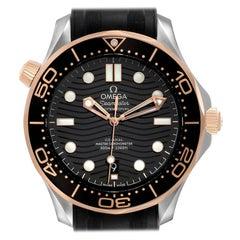 Omega Seamaster Steel Rose Gold Mens Watch 210.22.42.20.01.002 Box Card