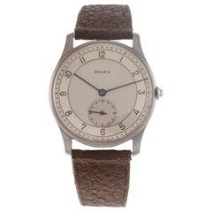 "Rolex Wrist Watch ""Moneta"" Ref. 3540 Stainless Steel Case Two Tones Dial"