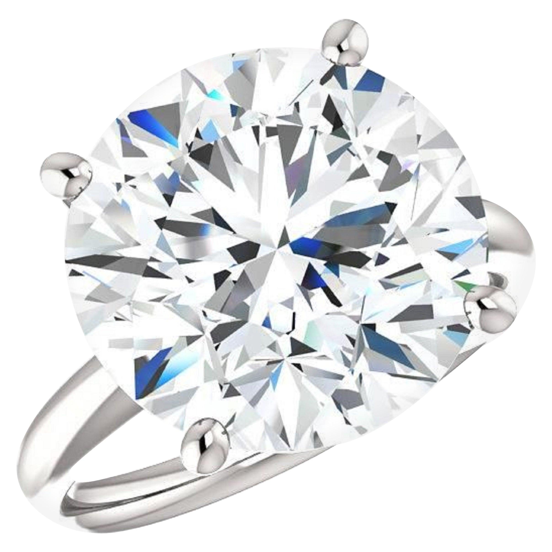 GIA Certified 5.50 Carat Round Brilliant Cut Diamond Triple Excellent Cut