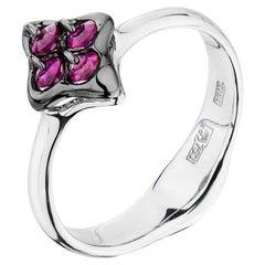 Moiseikin 18K White Gold Ruby Ring Gift Promotion
