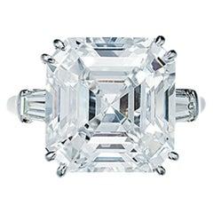 GIA Certified 3.40 Carat Asscher Cut Diamond Solitaire Ring