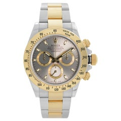 Rolex Daytona 18K Yellow Gold Steel Grey Dial Automatic Men's Watch 116523