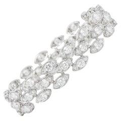French Cartier 11.04 Carats Diamond 18 Karat Gold Pluie De Cartier Bracelet