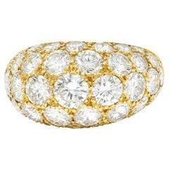 Oscar Heyman 7.50 Carats Pave Diamond 18 Karat Gold Bombe Band Ring