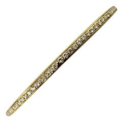 Roberto Coin 18 Karat Yellow and Diamond Bangle Bracelet
