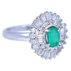 Platinum Diamonds Baguettes Emerald Ring, 2010