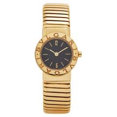 Bvlgari Bulgari 18 Karat Gold Model BB 23 2T Watch Quartz Movement