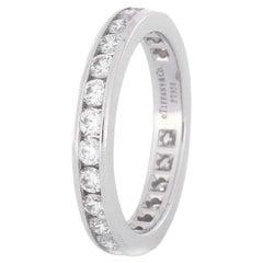 1.0 Carat Diamond Platinum Tiffany Eternity Band Bridal Ring