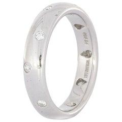 Tiffany & Co. Etoile Diamond Platinum Bridal Band Ring