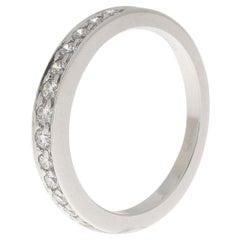 0.33 Carat Diamond Platinum Tiffany Half Eternity Band Bridal Ring