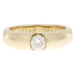 0.54 Carat Solitaire Diamond Ring 14k Yellow Gold