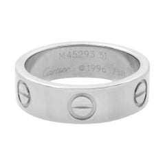 Cartier 18K White Gold Love Classic Ring