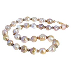 Gemjunky Goldy Glowing Ocean Cultured Pearl Necklace