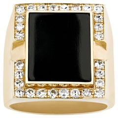 Elvis' Diamond and Black Onyx Ring