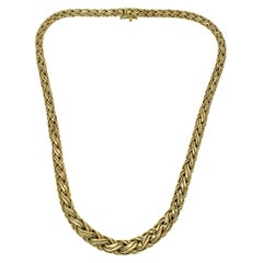 Tiffany & Co. 18k Yellow Gold Graduated Braided Necklace