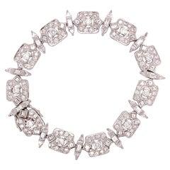 10.00 Carat Estate Diamond Bracelet