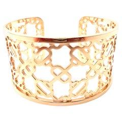 Hermes Chaine d'Ancre Passerelle Cuff Rose Gold Bangle Bracelet