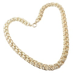Vintage Tiffany & Co Link Yellow Gold Chain Necklace