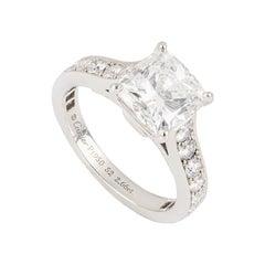 Cartier Platinum Diamond 1895 Solitaire Engagement Ring 2.66ct E/VS1