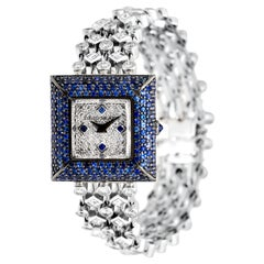David Morris Blue Sapphire & White Diamond Jewellery Bracelet Watch