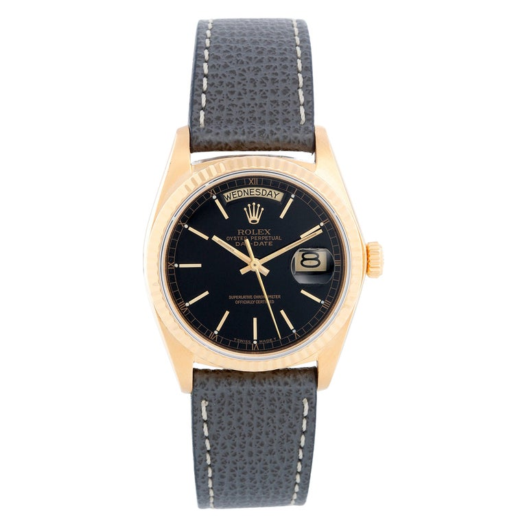 Rolex President Day-Date Men's 18k Gold Watch 18038 For Sale
