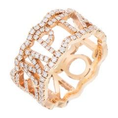 David Morris 18 Karat Rose Gold & Diamond 'Temptation' Ring
