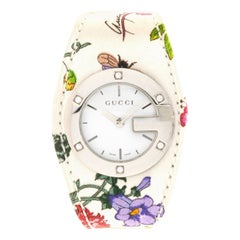 Gucci Stainless Steel Diamond Floral Special Edition 2005