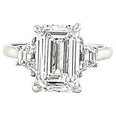 Platinum Three-Stone Rings