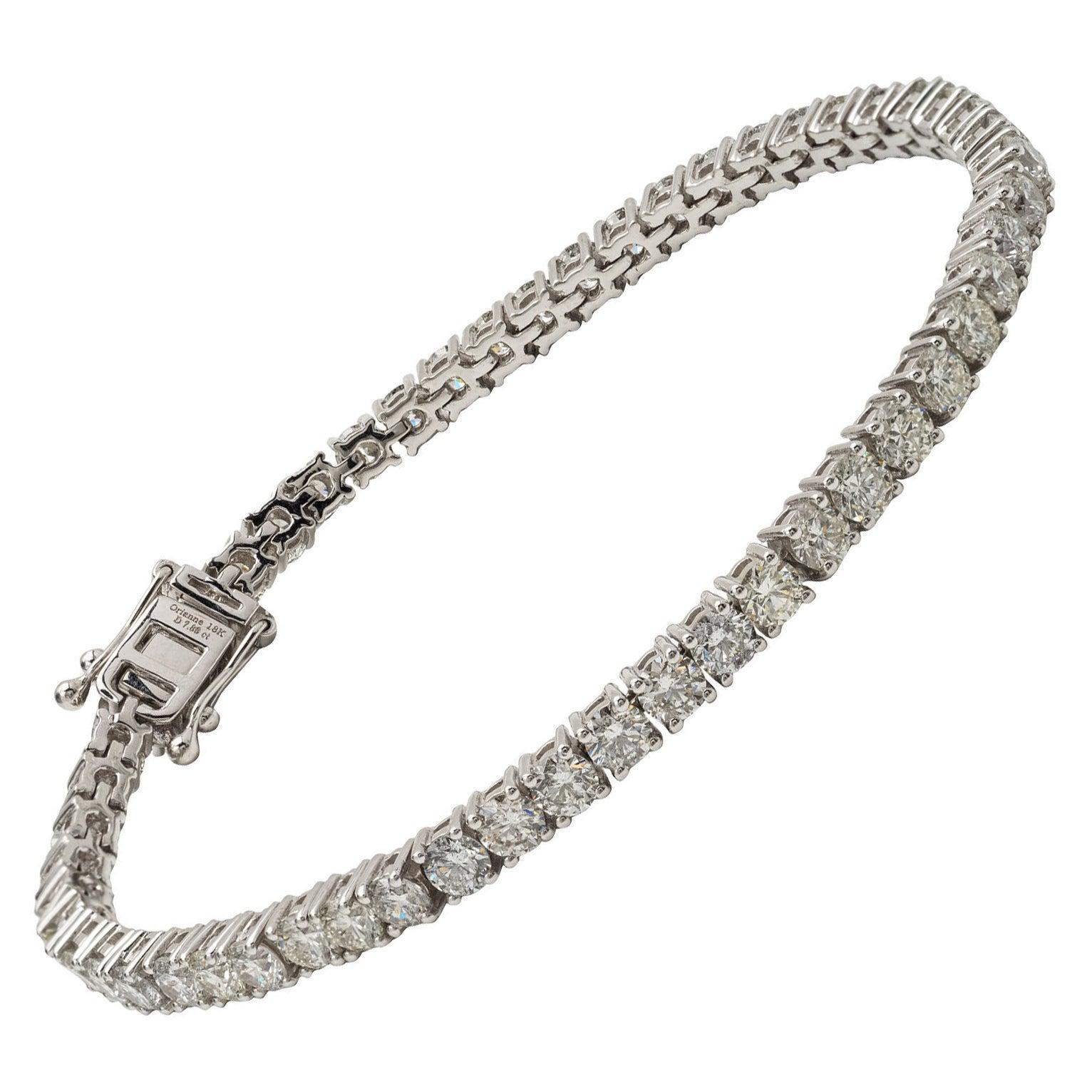 18KT Gold and Diamond Tennis Bracelet